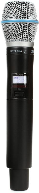Shure QLXD2/B87A K51 - ручной передатчик (Black)Беспроводные микрофоны<br>Ручной передатчик<br>