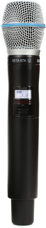 Shure QLXD2/B87A K51 - ручной передатчик (Black) A051393