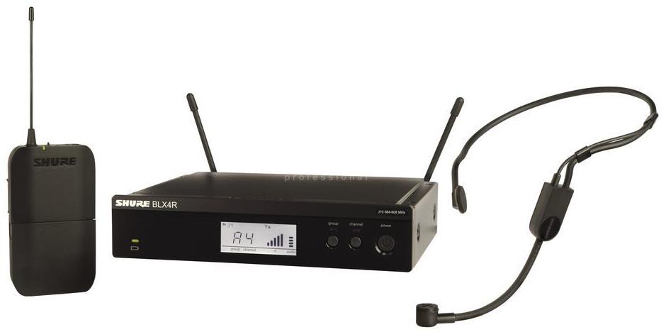 Shure BLX14RE/P31 K3E - головная радиосистема с гарнитурой PGA31 (Black) A051813