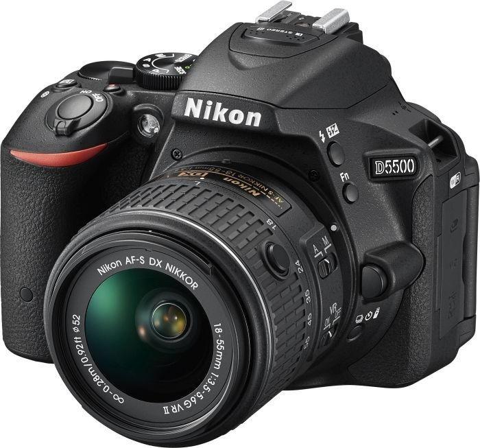 Фотоаппарат Nikon D5500 Kit (D5500 Body Black + 18-55 VR II Black)