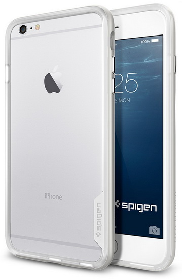 Купить Spigen Neo Hybrid EX (SGP11059) - бампер для iPhone 6 Plus/6S Plus (Satin Silver)