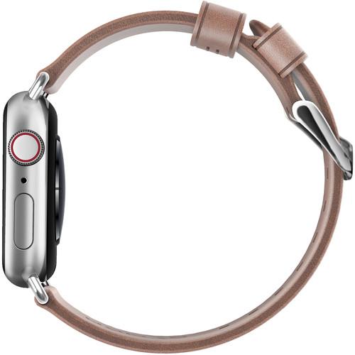 Ремешок Nomad Modern Strap (NM1A3NSM00) для Apple Watch Series 2/3/4 38/40 mm (Nude/Silver)