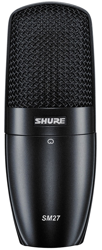 Shure SM27-LC (D000652) - студийный конденсаторный микрофон с защитным чехлом и противоударным креплением (Black)
