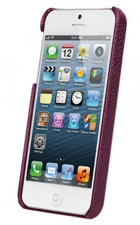 Vetti Craft Leather Snap Cover (IPO5LES1110108) - чехол для iPhone 5/5S/SE (Purple) от iCover