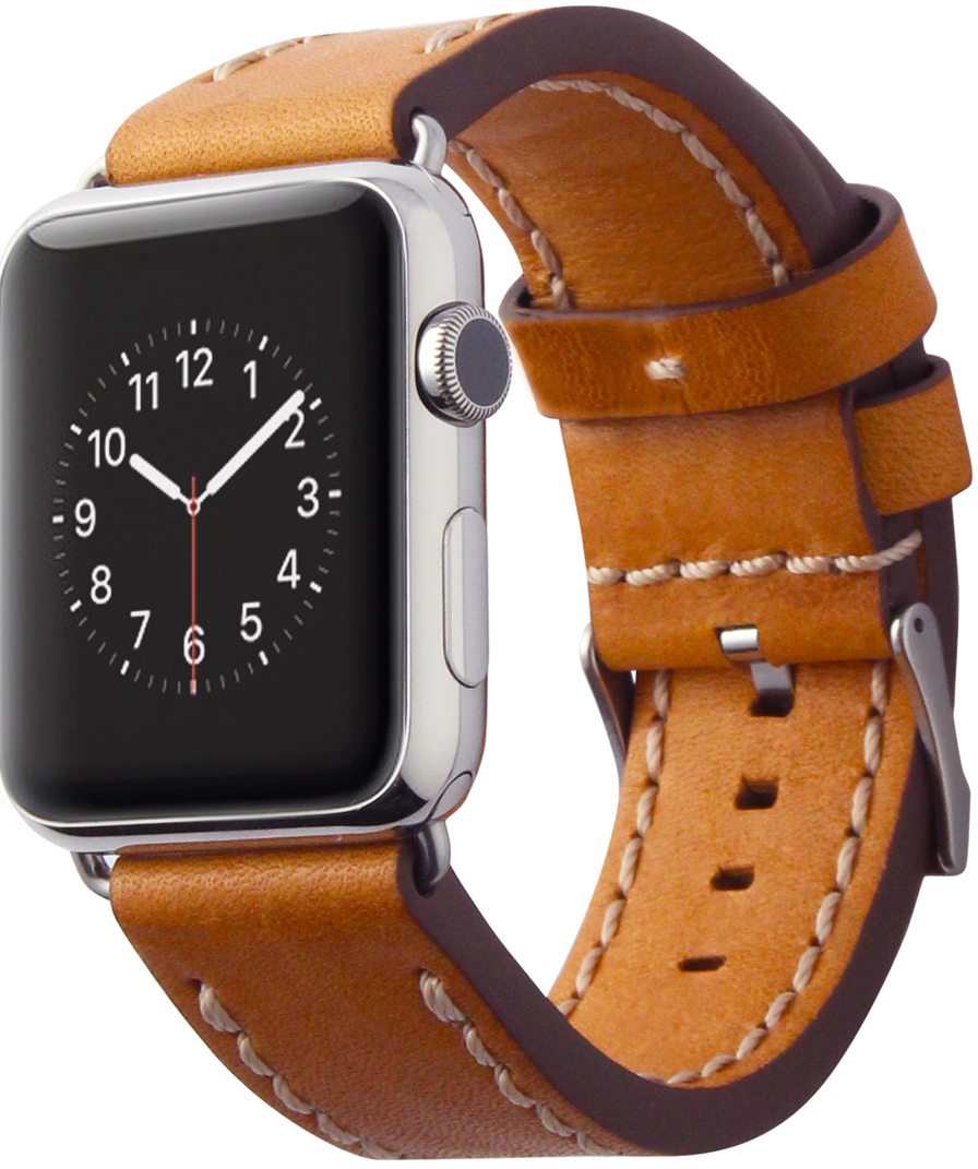 Cozistyle Leather Band (CLB018) - сменный ремешок для Apple Watch 42mm (Light Tan)
