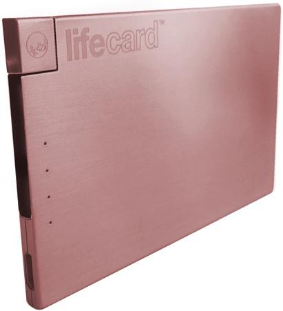 LifeCard LightningВнешние аккумуляторы для смартфонов<br>Внешняя батарея<br>