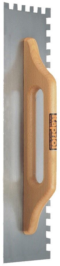 Kapriol зуб 10 мм (23042) - зубчатая гладилка с широкой деревянной ручкой