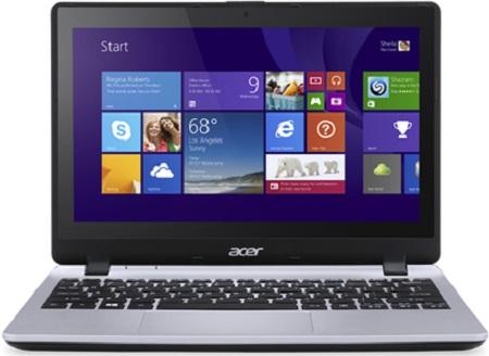Ноутбук Acer Aspire V3-112P-C451 11.6'', Intel Celeron N2840 2.16GHz, 4Gb, 500Gb HDD (Silver)