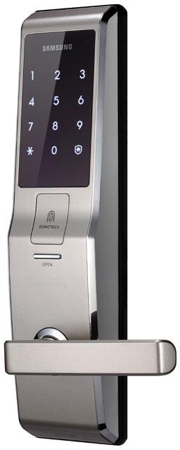 Samsung SHS-H705 FBR/EN (5230) - биометрический дверной замок с ручкой (Pink Gold)