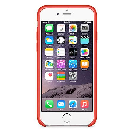 iPhone 6 Leather Case (MGR82ZM/A) - чехол для iPhone 6 (Red)