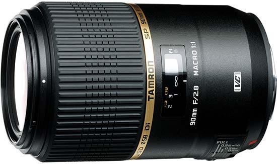 Tamron SP AF 90mm f/2.8 DI VC USD Macro - макрообъектив для фотоаппаратов Canon (Black)