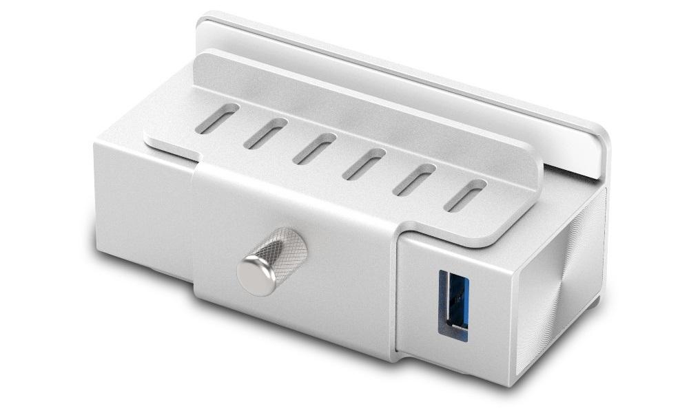 Satechi 4 Port USB 3.0 Aluminum Clamp Hub Premium