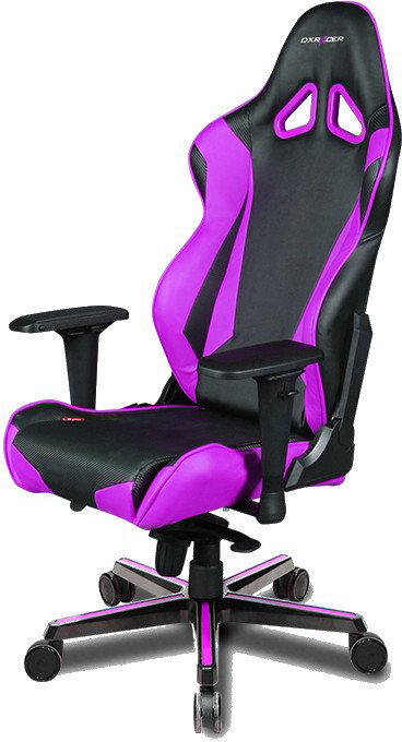 DXRacer OH/RV131/NV - компьютерное кресло (Black/Purple)
