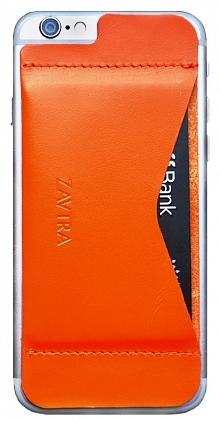 Кошелек-накладка Zavtra для iPhone 6/6S (Orange)