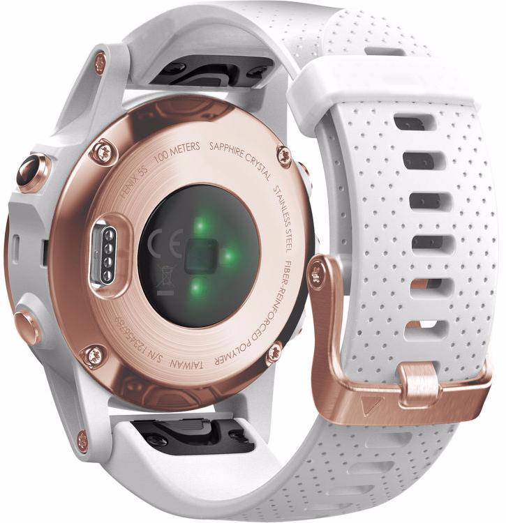 Спортивные часы Garmin Fenix 5S 010-01685-17 (Sapphire Rose Goldtone/White)