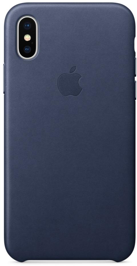 Чехол Apple Leather Case MQTC2ZM/A для iPhone X (Midnight Blue)
