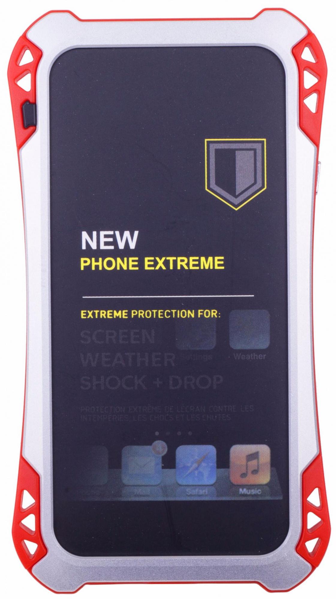 Amira Phone Extreme - защитный чехол для iPhone 6/6S (Silver/Red)Защищенные чехлы для смартфонов<br>Защитный чехол<br>