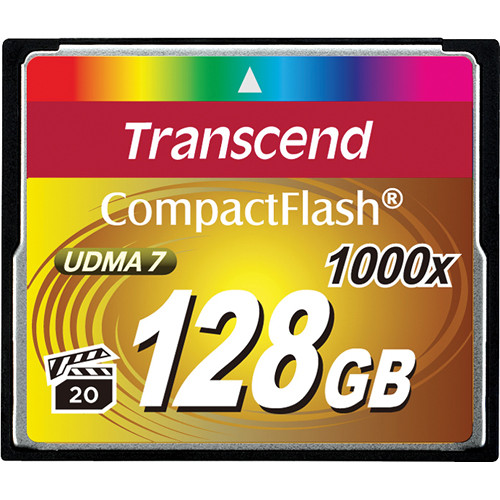 все цены на  Transcend Compact Flash Ultimate 1000x 128Gb (TS128GCF1000) - карта памяти (Orange)  онлайн