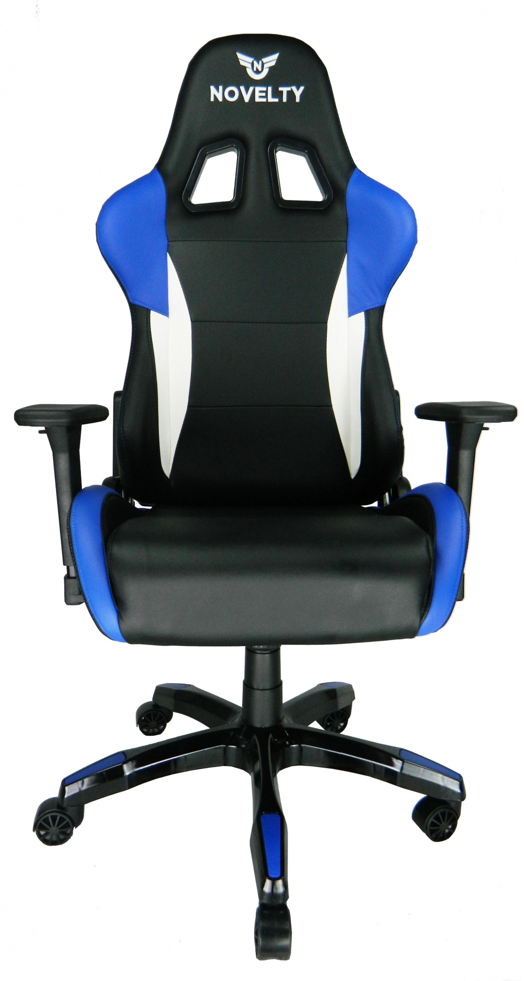 Novelty RGC-8087 - компьютерное игровое кресло (Black/White/Blue) cougar armor black orange игровое кресло