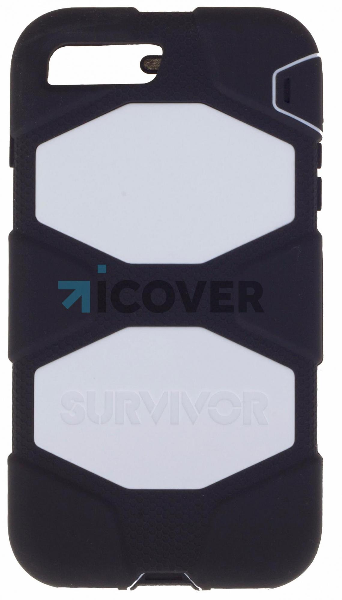 Griffin Survivor - противоударный чехол для iPhone 7 Plus (Black/White)
