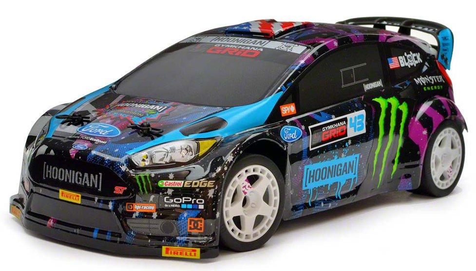 HPI Micro RS4 Ford Fiesta ST RX43 2015 Ken Block 1:18 - радиоуправляемый автомобиль (Black)