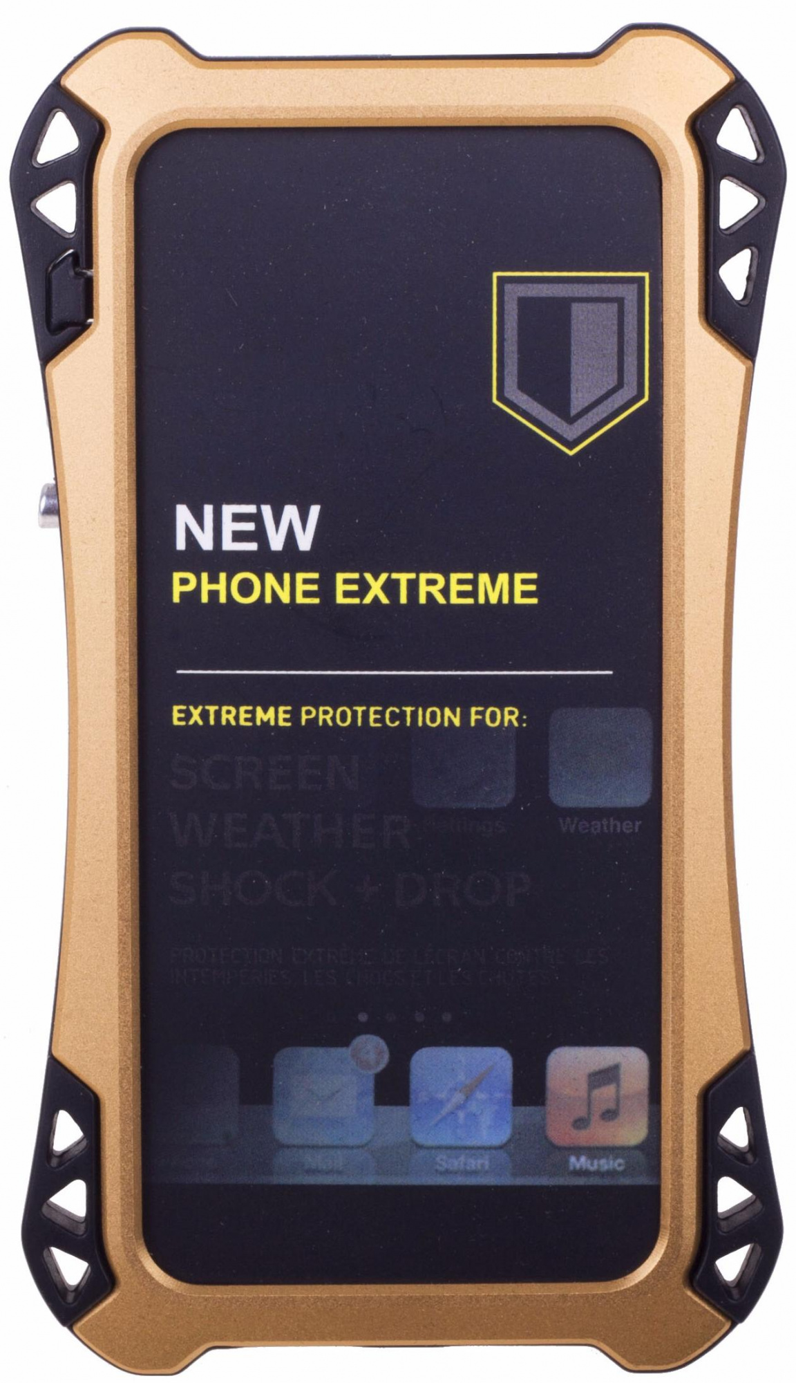 Amira Phone Extreme - защитный чехол для iPhone 5/5S/SE (Gold/Black)
