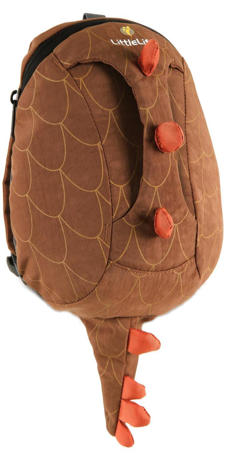 LittleLife Динозавр (L12730) - рюкзак детский с ручкой (Brown/Orange) от iCover