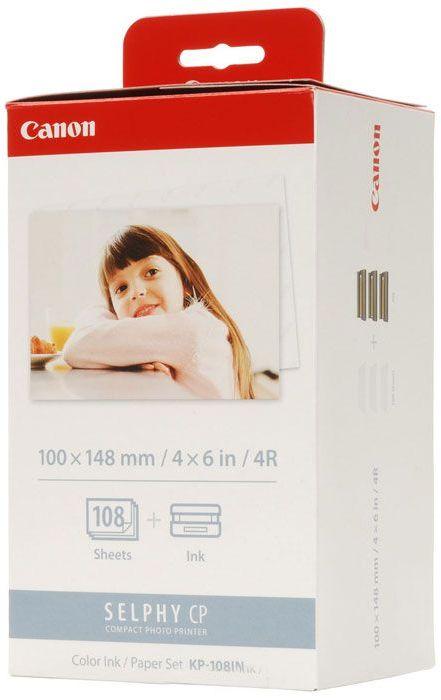 Canon KP-108IN (3115B001) - комплект расходных материалов для принтеров Canon Selphy