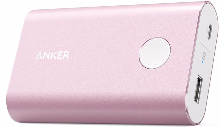 Anker PowerCore+ 10050mAh (A1310H51) - внешний аккумулятор (Pink)