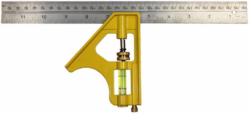 Stanley Combination Square 305mm (2-46-028) - комбинированный угольник (Yellow)
