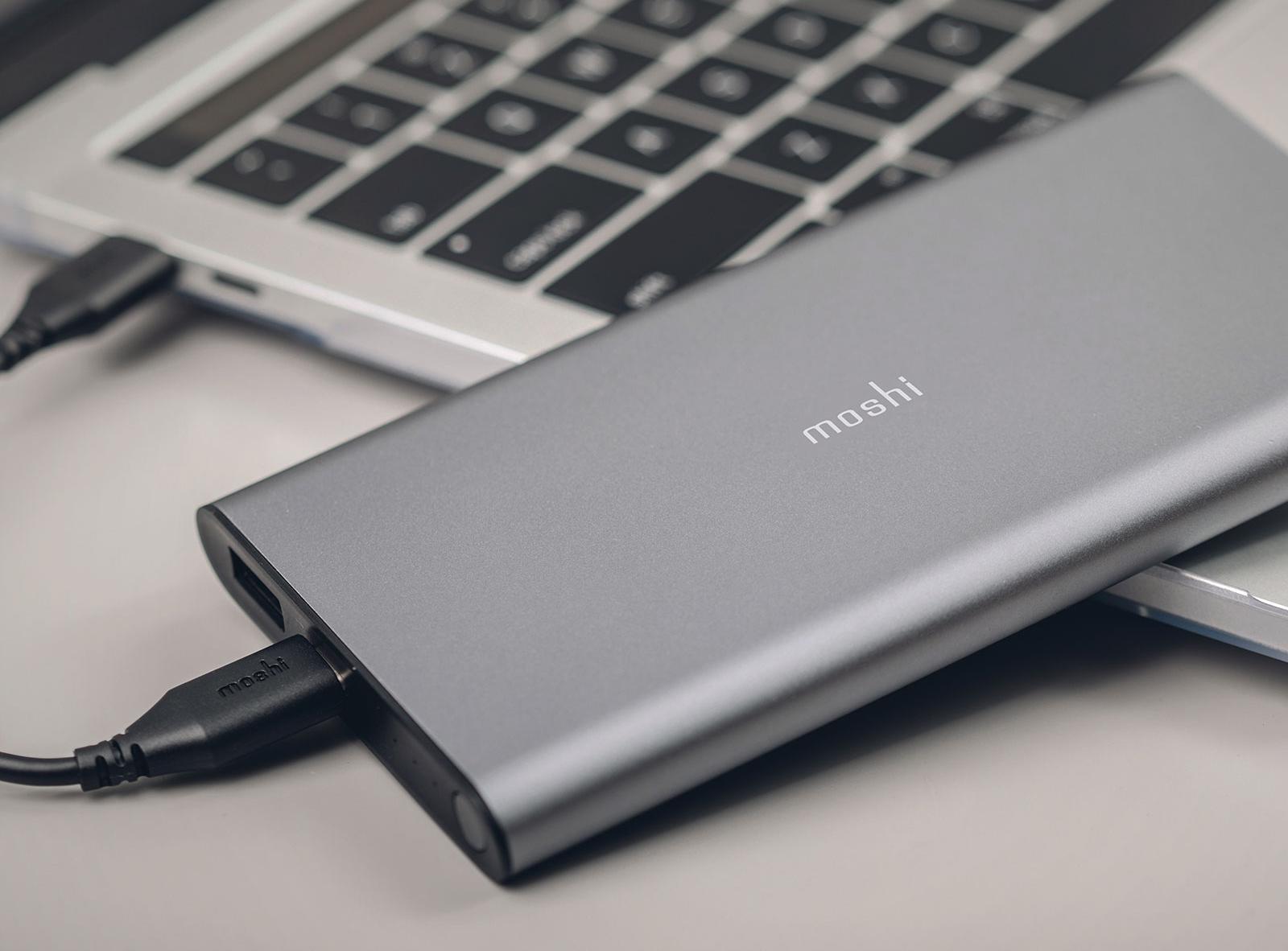 Портативный аккумулятор Moshi IonSlim 10000 мАч (Grey)