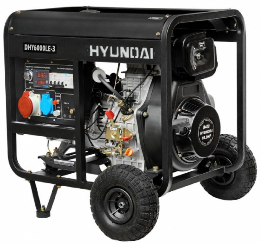 Hyundai DHY 6000LE-3 - дизельный генератор (Black)