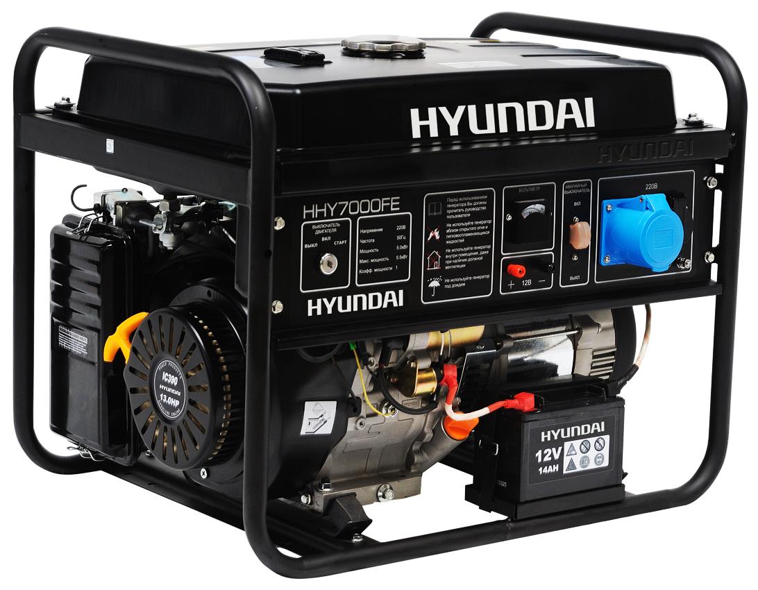 Hyundai HHY 7000FE - генератор бензиновый