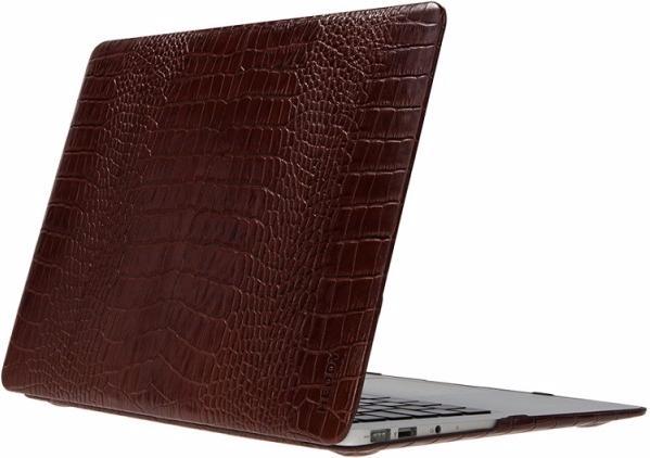 Heddy Leather Hardshell (OEM-N-A-12-01-07) - чехол для MacBook 12 (Croco Huzelnut)