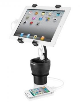 PowerCup 2.2 Car Charger & iPad Holder