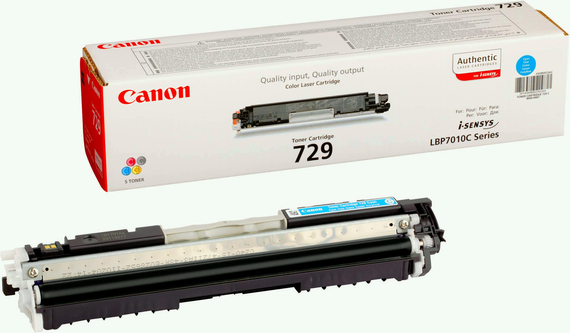 Canon 729 (4369B002) - тонер-картридж для принтеров Canon LBP 7010C/7018C (Cyan)