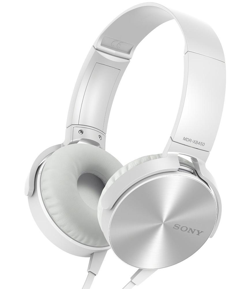 Sony MDR-XB450AP/W - накладные наушники (White)