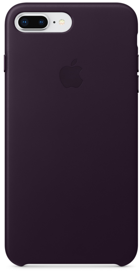 Чехол-накладка Apple Leather Case MQHQ2ZM/A для iPhone 7 Plus/8 Plus (Dark Aubergine)