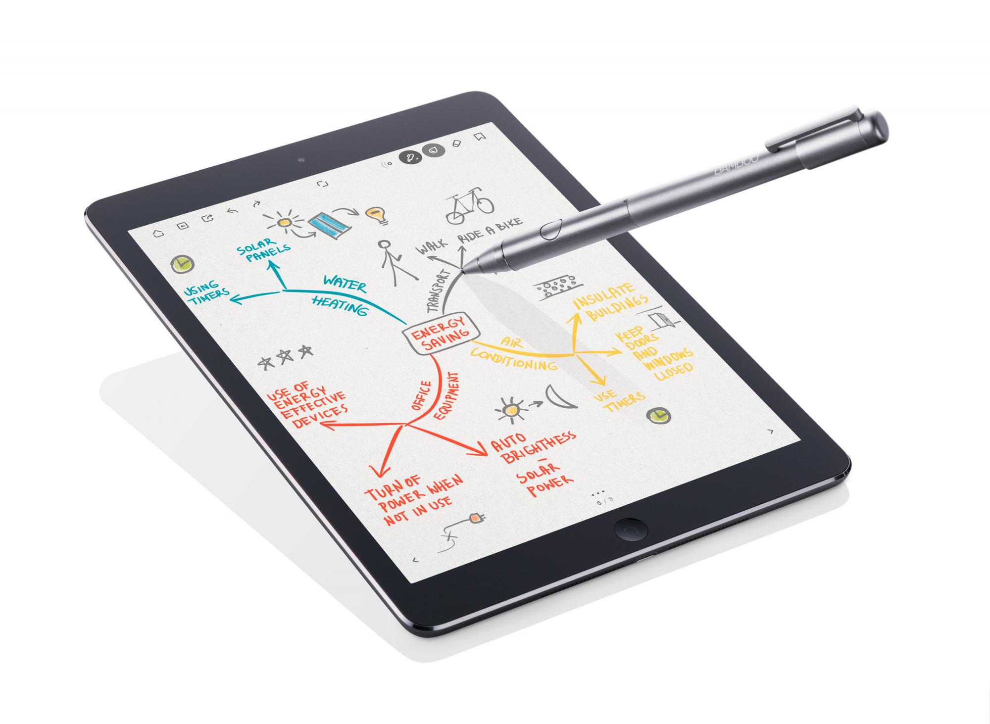 Купить Wacom Bamboo Stylus Fineline (CS-600CK-X) - стилус для планшетов (Grey), ваком бамбу стилус файнлайн в Москве по низкой ц
