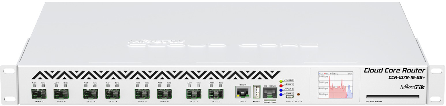 Маршрутизатор MikroTik CCR1072-1G-8S+
