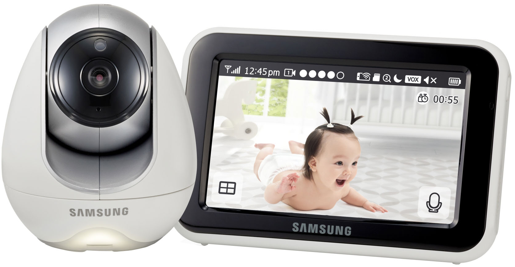 Samsung SEW-3053WP - видеоняня (White) видеоняня samsung samsung видеоняня sew 3043wpx2