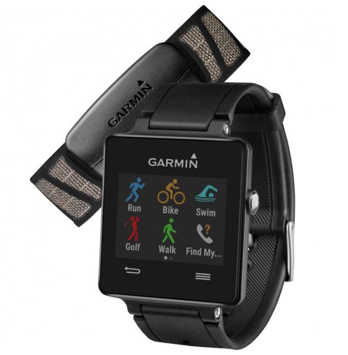 Garmin VivoActive HRM (010-01297-10) - спортивные часы с пульсометром (Black)