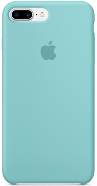 Apple Silicone Case (MMQY2ZM/A) - чехол для iPhone 7 Plus (Sea Blue) холодильник lg ga b389smcz silver