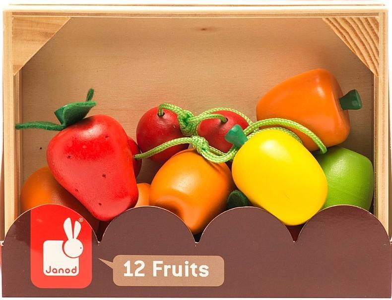Janod Набор фруктов (J05610)Развивающие игрушки<br>Бренд: Janod <br>Страна производителя: Франция<br>Количество фруктов в наборе: 12 <br>Материал: дерево<br>Возраст: 3+<br>Размеры: 16 х 6 х 120 см<br>Вес: 1 кг<br>