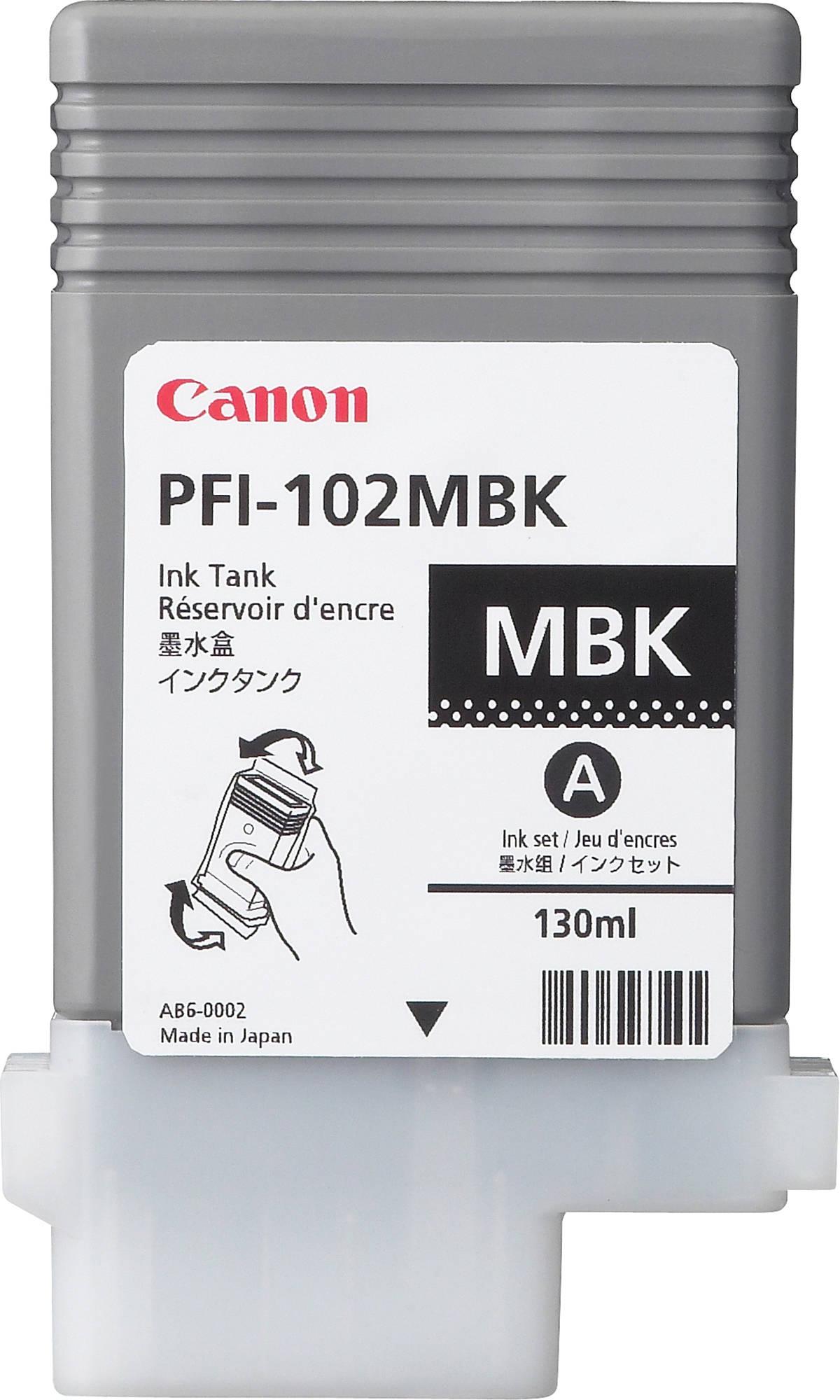 Canon PFI-102MBK (0894B001) - картридж для принтеров Canon iPF500/600/610/700/710 (Mate Black)