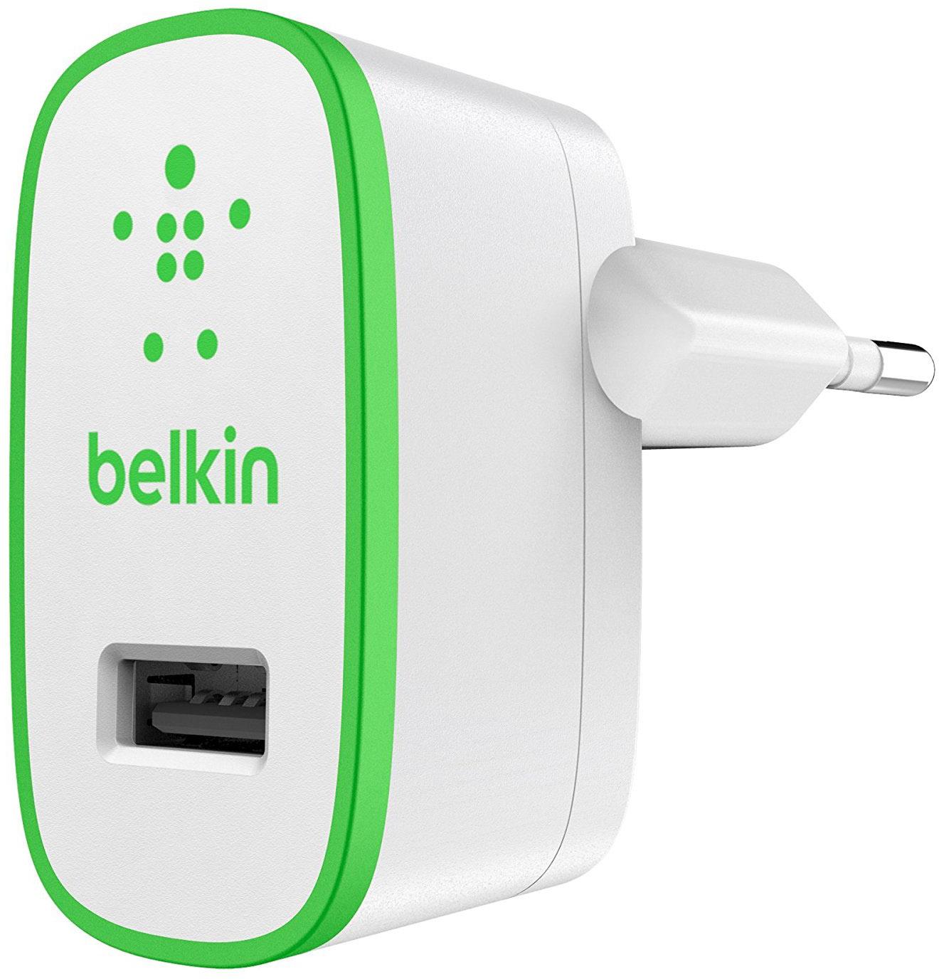 Belkin Mixit (F8J052VFGRN) - сетевое зарядное устройство (White/Green)
