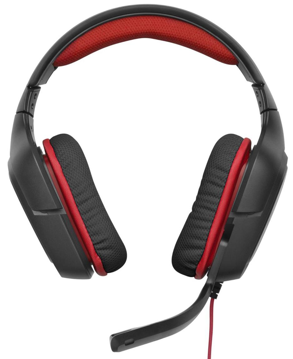Logitech G230 - игровая гарнитура (Black/Red)