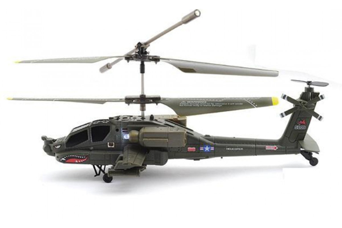 Syma S109G Apache AH-64 - радиоуправляемый вертолет (Grey) military modern wars diecast boeing ah 64 apache helicopter gunships can shoot alloy pull back toy with light