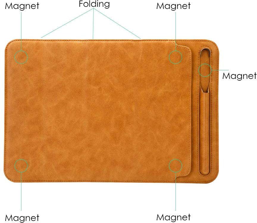 Чехол Jisoncase Magnetic Four Fold Stand (JS-PRO-23M20) для iPad Pro 10.5 (Brown)