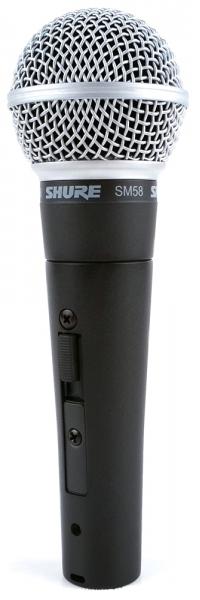 Shure SM58-SE - кардиоидный динамический вокальный микрофон (Black) shure sm86 кардиоидный конденсаторный вокальный микрофон black